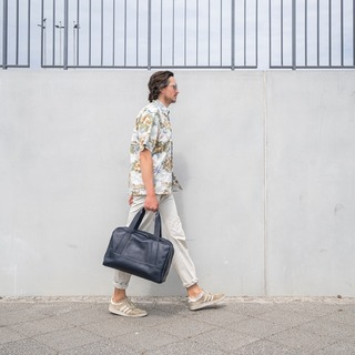 Walking in the city of culture and creativity. We are extremely grateful to be based in Berlin where the art scene is so versatile and unpredictable. We hope to translate the city's authenticity and timelessness in our designs 🏙️  Max is carrying our weekender Sacha in navy blue           #Sasha #ZAMT #ZAMTberlin #sustainability #ecofriendly #sustainable #sustainableliving #sustainablefashion #slowfashion #consciousfashion #buylesswearmore #buylessbutbetter #qualityoverquantity #inspiration #berlinbrand #madeinberlin #design #fashion #baglovers #handmade #vegtanned #startup #bagdesign #weloveberlin #ethicalfashion #smallbusiness #smallbrand #minimalist #madewithlove #supportsmalllabels   